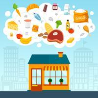 Concept d'épicerie vecteur