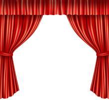 Rideaux de théâtre isolés vecteur