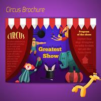 Brochure performance cirque