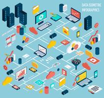 Ensemble infographique de données vecteur