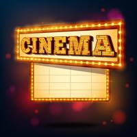 Signe de cinéma rétro