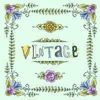 Vintage cadre coloré vecteur