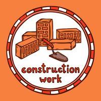 Esquisse de construction d'architecte vecteur