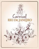 Affiche du carnaval de Rio vecteur