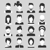 ensemble d'avatar de personnes vecteur