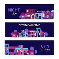Bannière de la ville horizontale vecteur