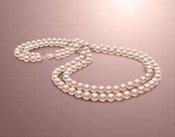 Collier de perles réaliste vecteur