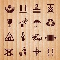 Manipulation et emballage des symboles vecteur