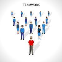Illustration de concept de travail d'équipe vecteur