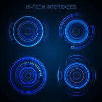 Interface Hud futuriste vecteur