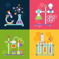 Concepts de conception de la chimie vecteur
