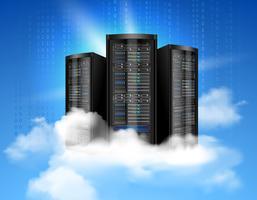 Affiche informatique en nuage