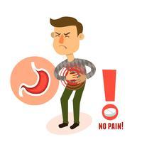 Caractère malade maux d'estomac