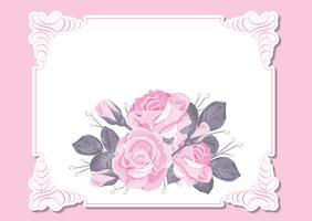 Modèle de carte d'invitation de mariage floral vecteur