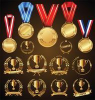 médaille d'or vecteur