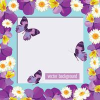 Modèle de carte floral avec cadre vide