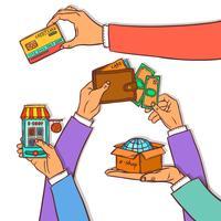 Concept de design shopping en ligne
