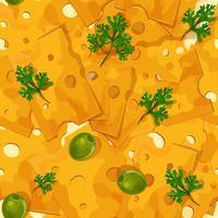 Modèle sans couture de fromage vecteur