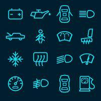 Icônes de tableau de bord de voiture vecteur