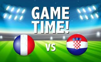 Temps de jeu france vs croatie vecteur