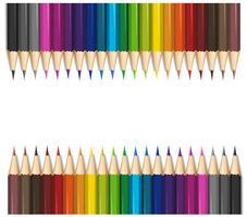 Design de fond avec des crayons de couleur
