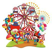 Beaucoup de clowns au cirque