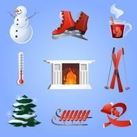 Ensemble d'icônes hiver
