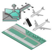 jeu d'icônes aéroport vecteur