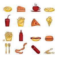Croquis d'icône de restauration rapide