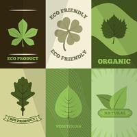 Copie d'affiche d'icônes d'écologie vecteur