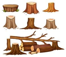 Un ensemble de déforestation vecteur