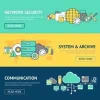 Ensemble de bannières réseau vecteur