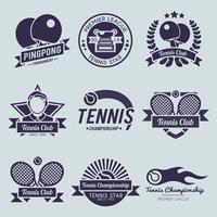 Étiquette de tennis noir