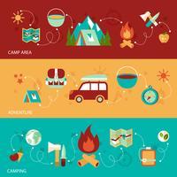 Bannière de camping