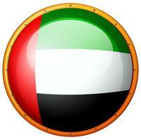Badge design pour le drapeau des Emirats Arabes Unis vecteur