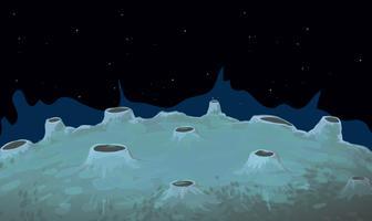 Scène de fond avec la surface de la lune