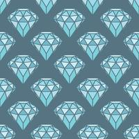 Modèle sans couture de diamants bleus géométriques sur fond gris. Conception de cristaux tendance hipster.