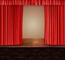 Fond de rideaux de théâtre vecteur