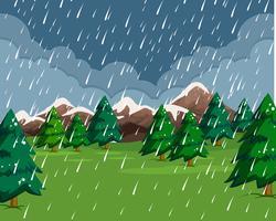 Il pleut dans la pluie vecteur