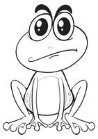 Doodle animal pour grenouille vecteur