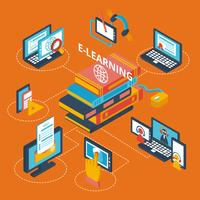 E-learning icônes isométrique