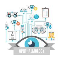 Concept d'ophtalmologie plat vecteur