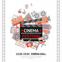 Affiche du festival de cinéma vecteur