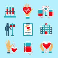 Ensemble d'icônes de donneur vecteur