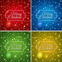 Modèle de quatre cartes pour Noël vecteur