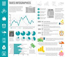 Jeu d'infographie fiscale vecteur