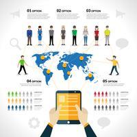 Infographie de réseau social vecteur