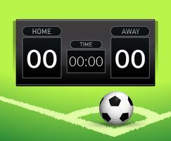 Concept de tableau de score football