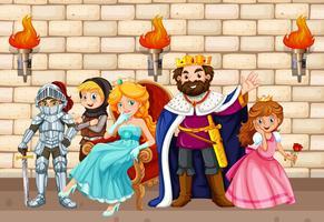 King et autres personnages de conte de fées vecteur