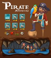 Un modèle de jeu d'aventure de pirate